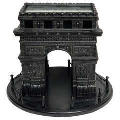 19th Century French Grand Tour Iron Model of the Arc de Triomphe
