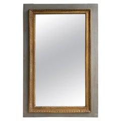 19th Century French Green Boiserie Mirror