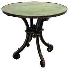 19th Century Painted Green and Gold French Gueridon