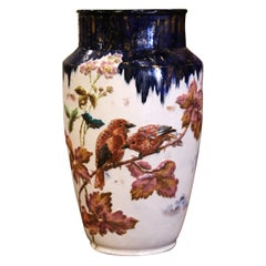 19th Century French Hand Painted Porcelain Vase