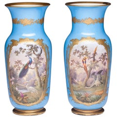 19th Century French Hand Painted Sevres Style Porcelain Vases