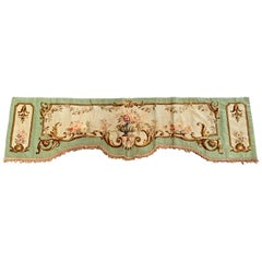 19th Century French Handwoven Aubusson Tapestry Portiere