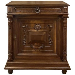 19th Century French Henri II Neoclassical Walnut Confiturier, Cabinet