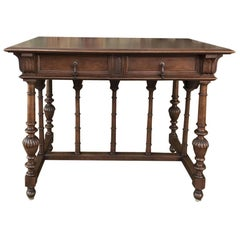 19th Century French Henri II Walnut Writing Table