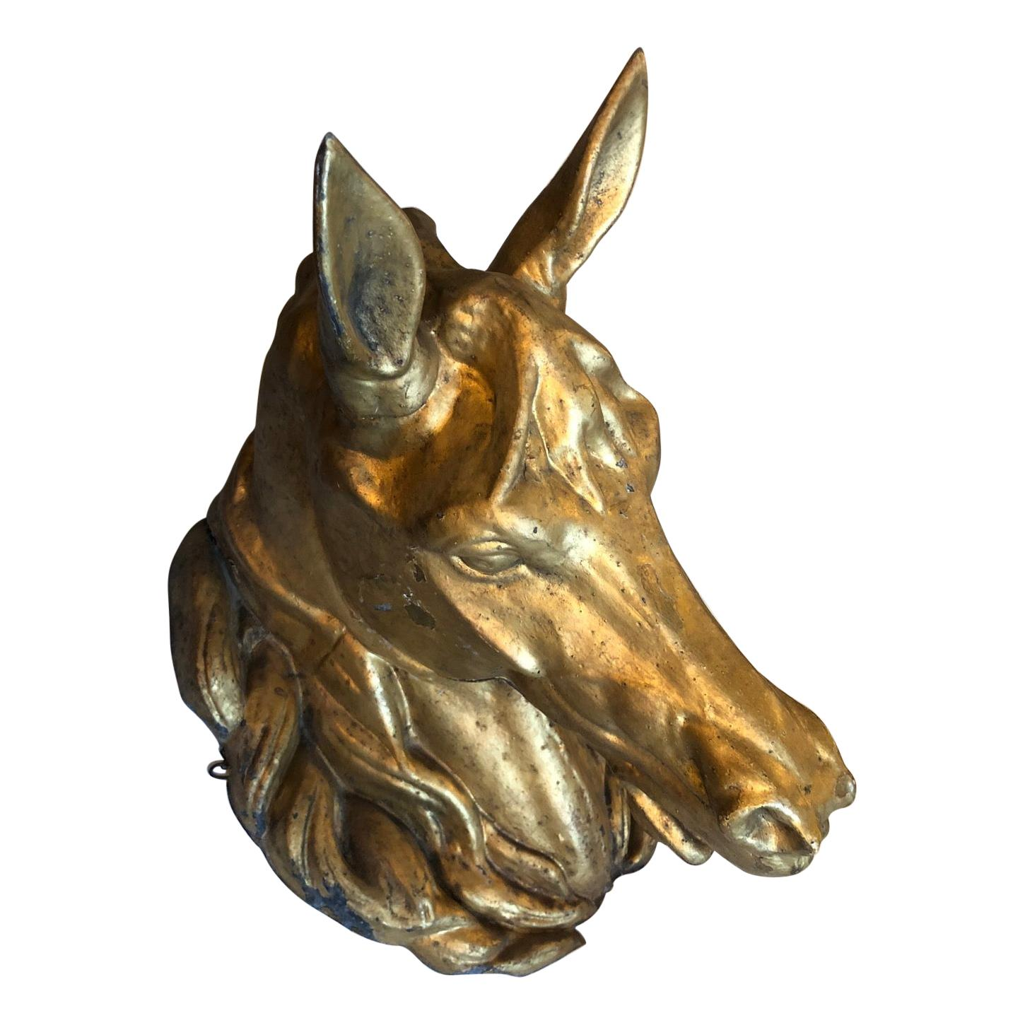 19th Century French Horse Wall Mount Sculpture