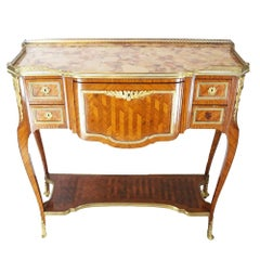 19th Century French Inlaid Kingwood Serving Table