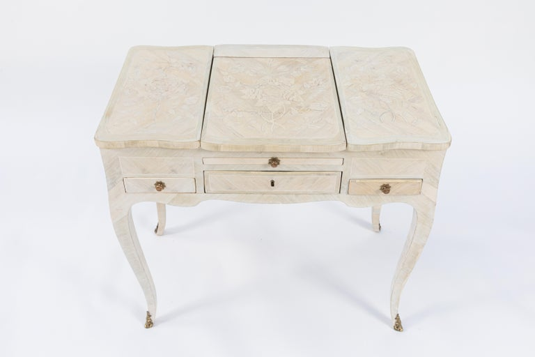 19th Century French Inlaid Vanity For Sale 2