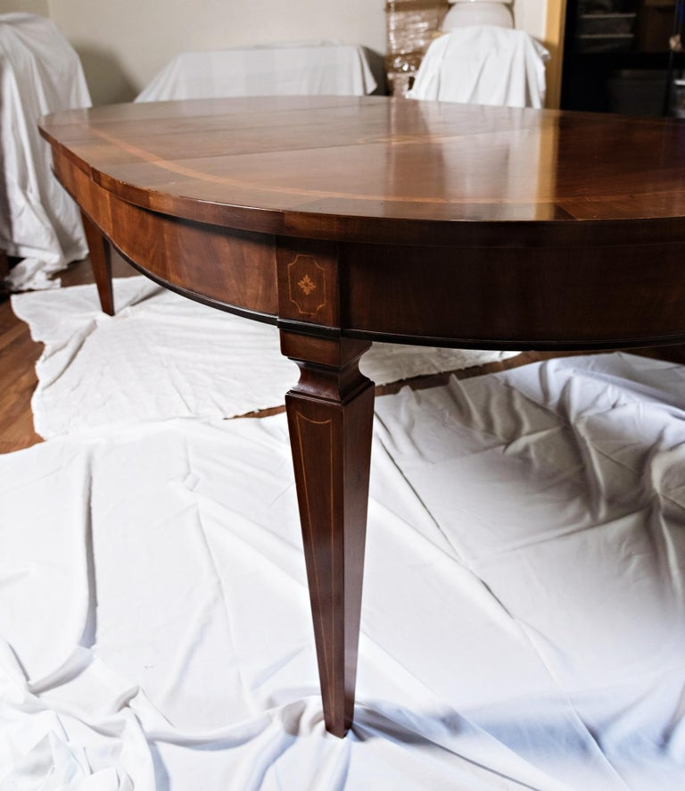 19th Century French Inlay Directoire Table In Good Condition For Sale In Oregon, OR