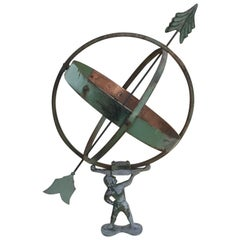 19th Century French Iron and Cast Iron Sundial, 1890s