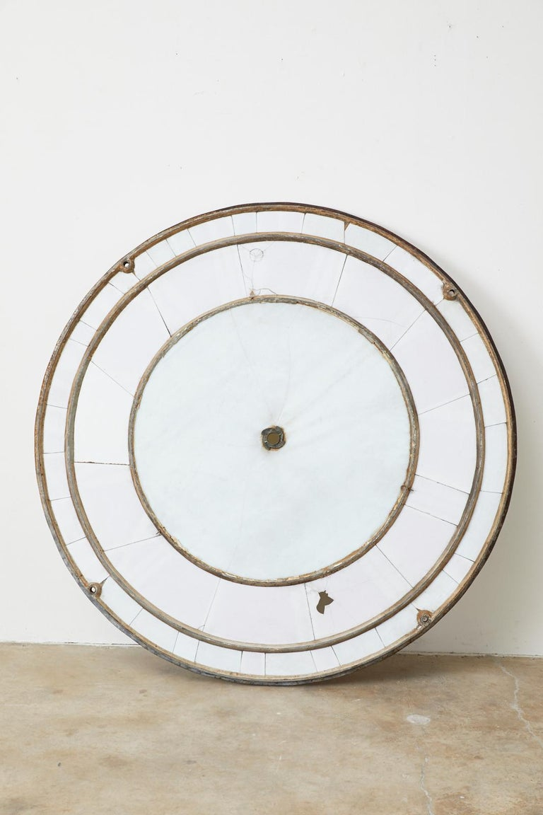 19th Century French Iron and Milk Glass Clock Face For Sale 14