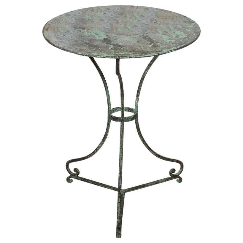 19th Century French Iron Bistro Table