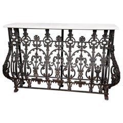 19th Century French Iron Console