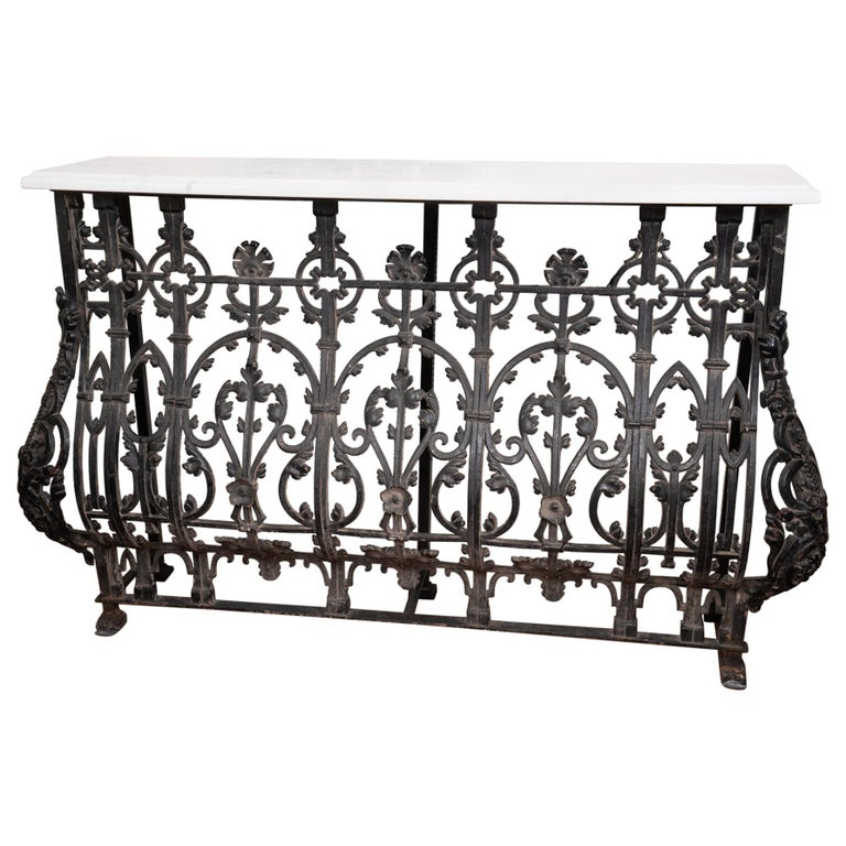 19th Century French Iron Console For Sale