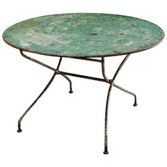 19th Century French Iron Folding Table