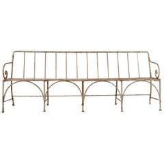 19th Century French Iron Garden Bench