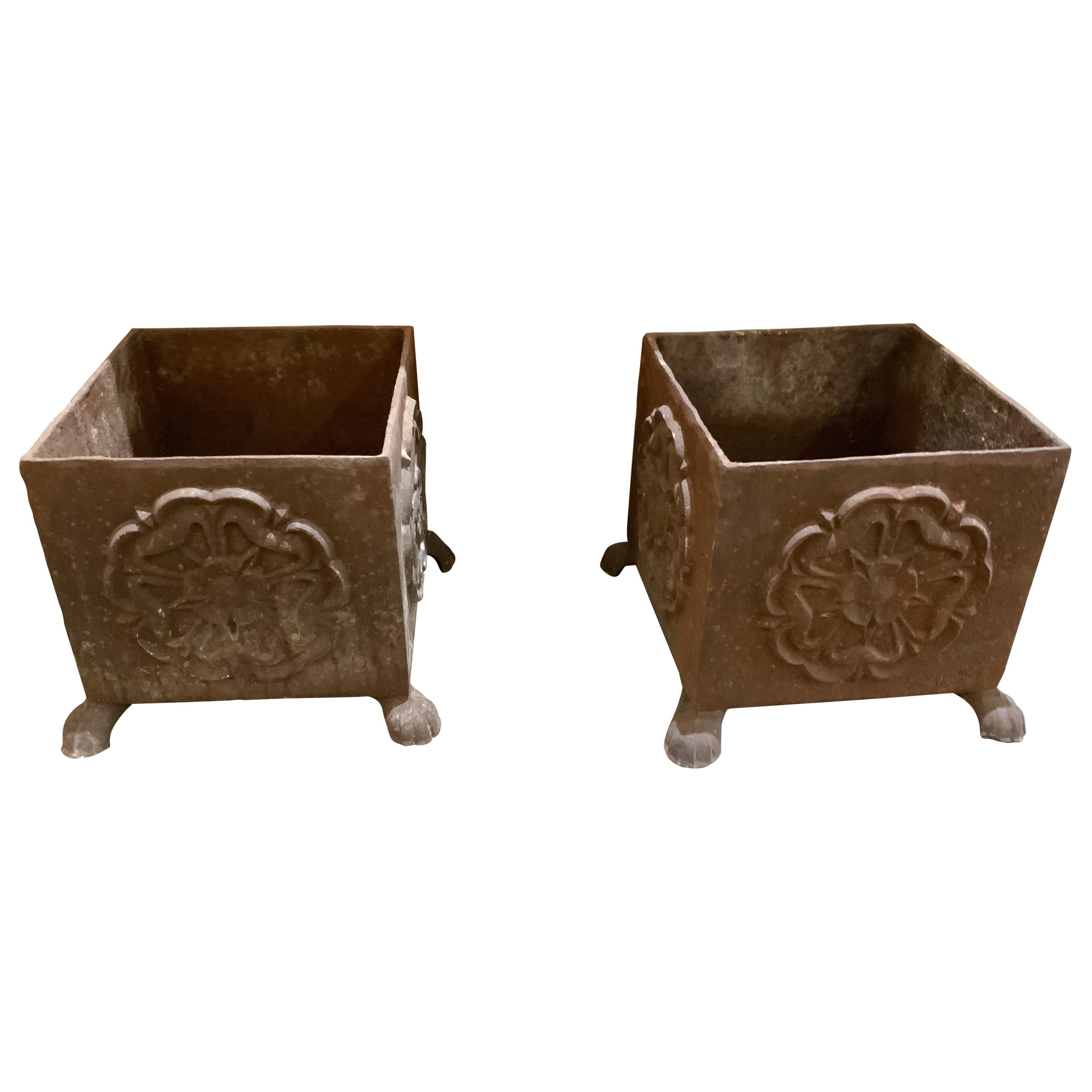 19th Century French Iron Planters
