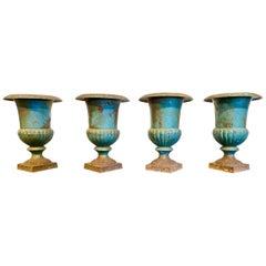 19th Century French Iron Urns