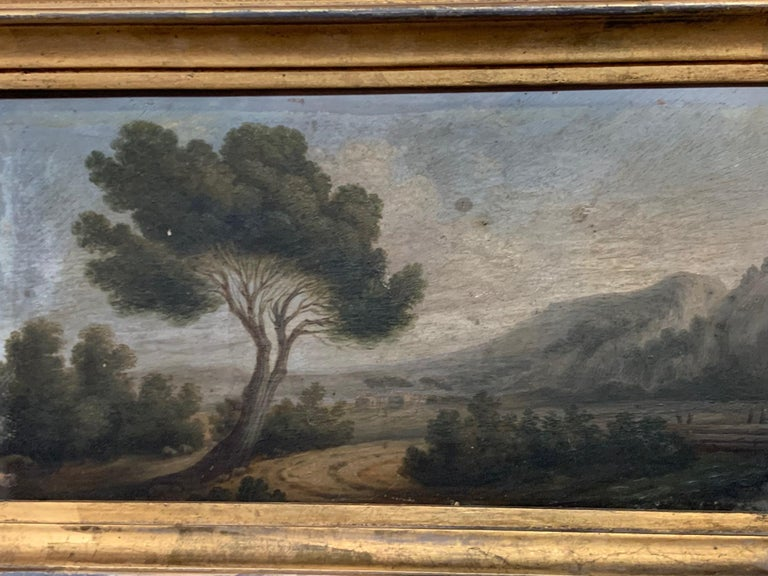 A very charming later 19th century landscape painting of the countryside - oil on board - beautifully housed in its gilt frame.