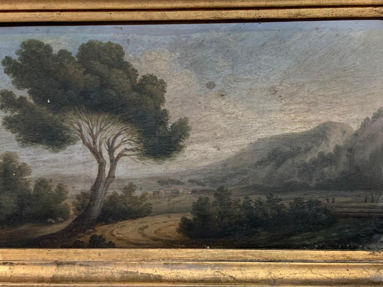 Hand-Painted 19th Century French Landscape Painting
