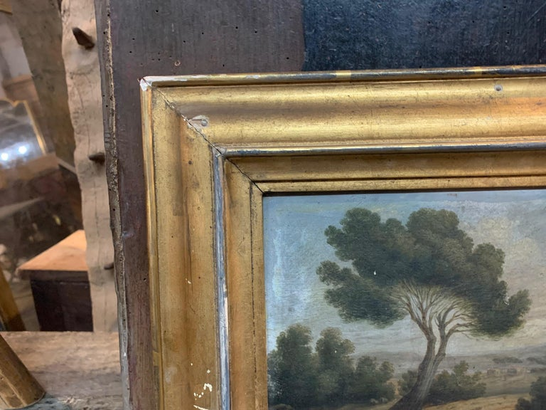 Wood 19th Century French Landscape Painting