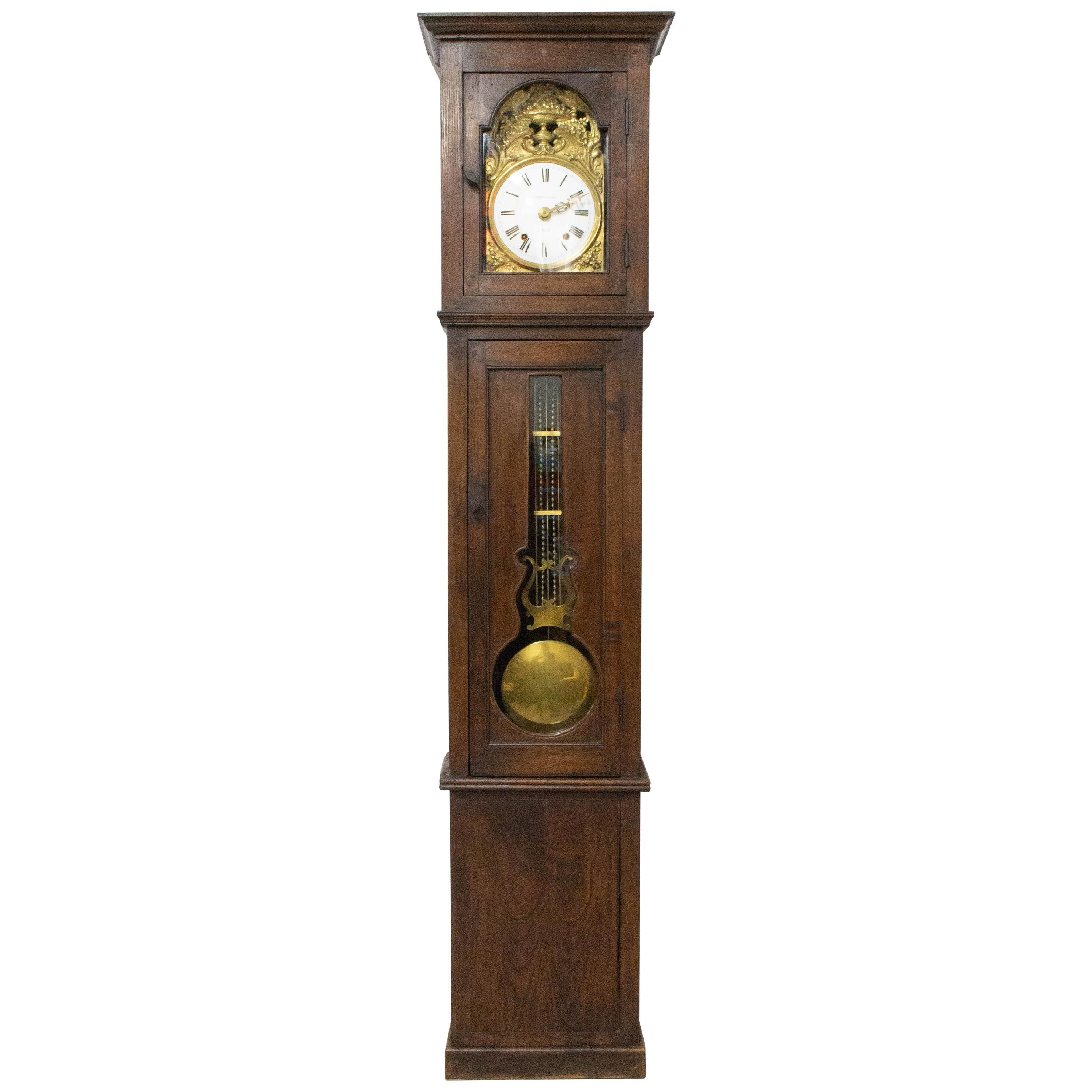 19th Century French Longcase or Grandfather Clock