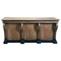 19th Century French Louis Philippe Comptoire, Store Counter