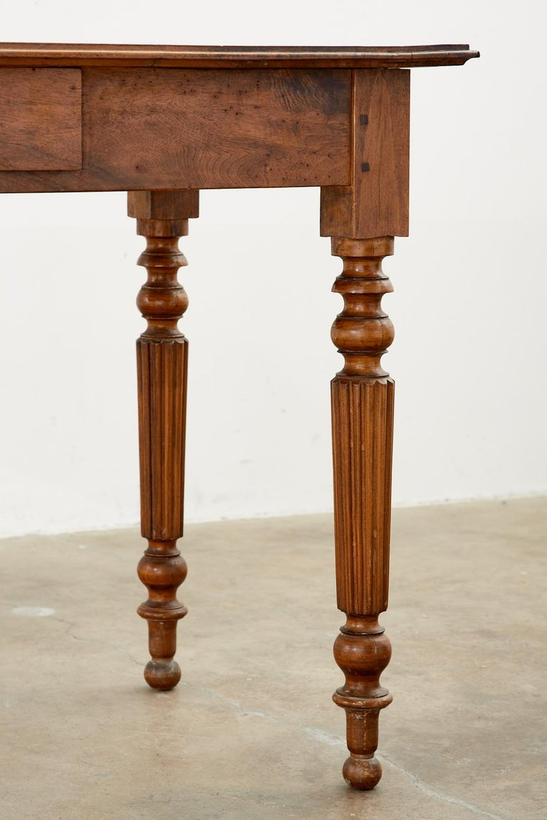19th Century French Louis Philippe Fruitwood Writing Table Desk 9