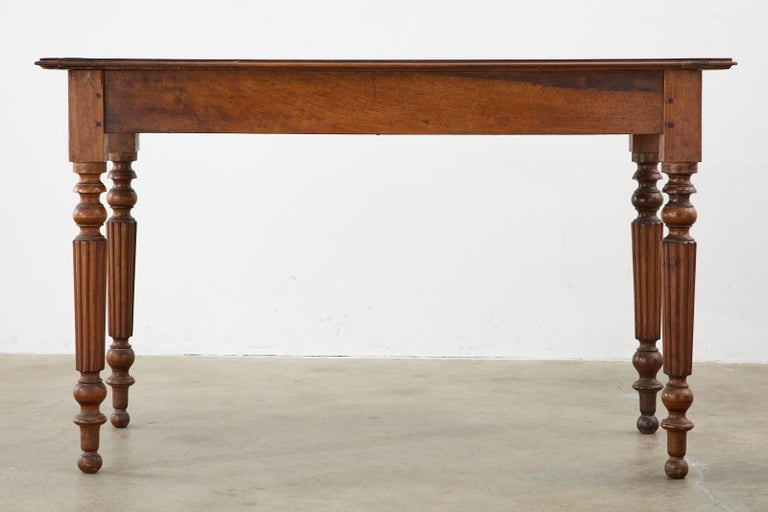 19th Century French Louis Philippe Fruitwood Writing Table Desk 16