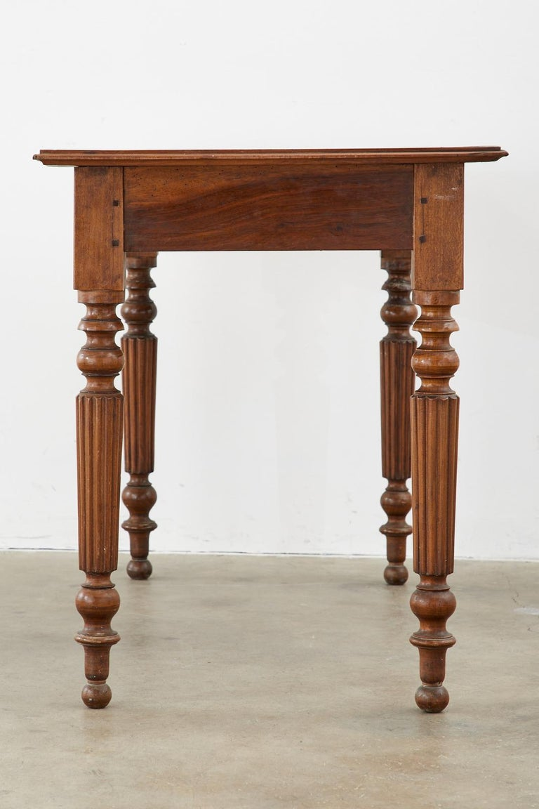 19th Century French Louis Philippe Fruitwood Writing Table Desk 2