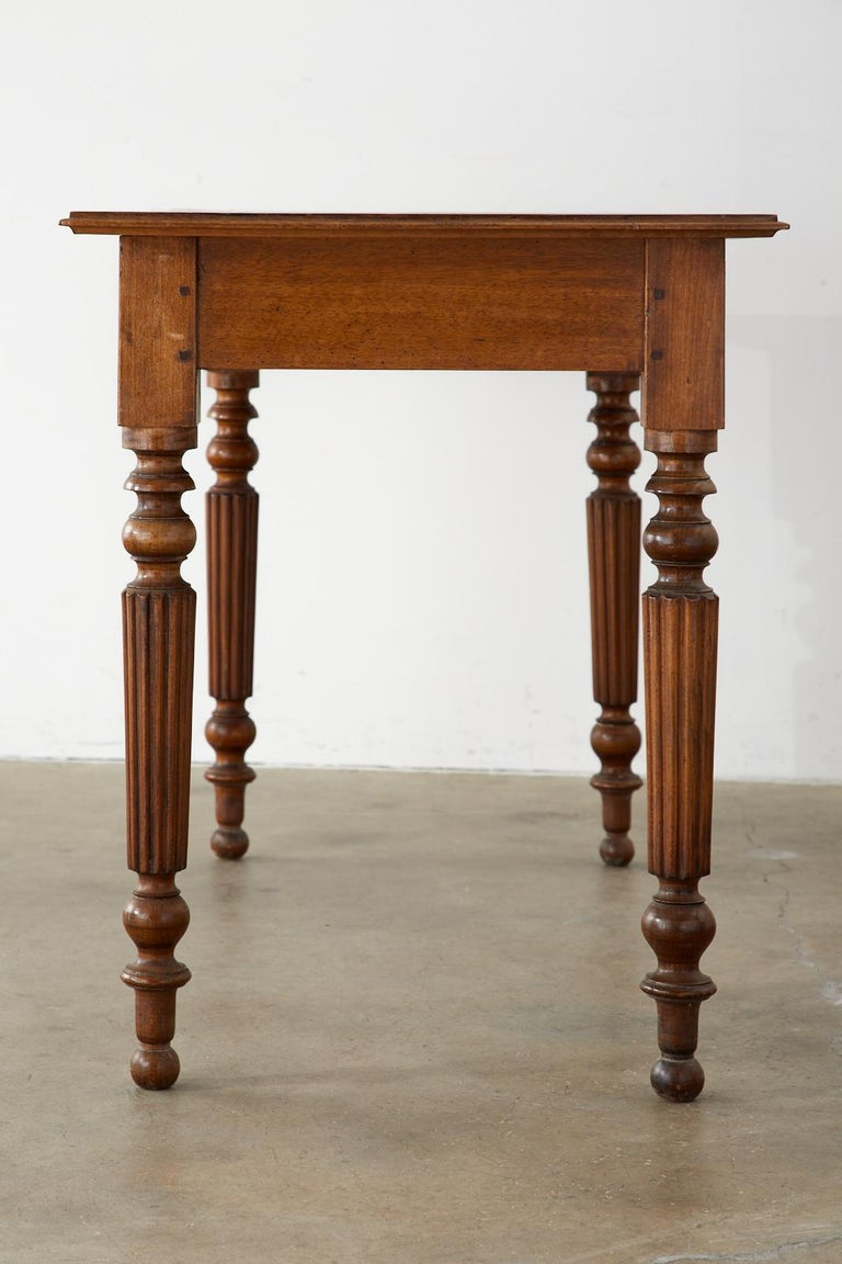 19th Century French Louis Philippe Fruitwood Writing Table Desk 4