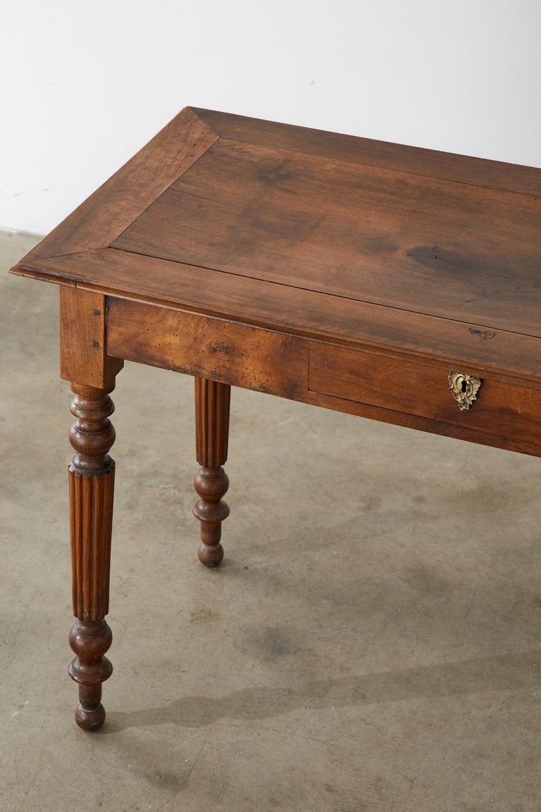 19th Century French Louis Philippe Fruitwood Writing Table Desk 5