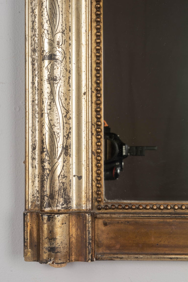 19th Century French Louis Philippe Gilded Mantel Mirror 1