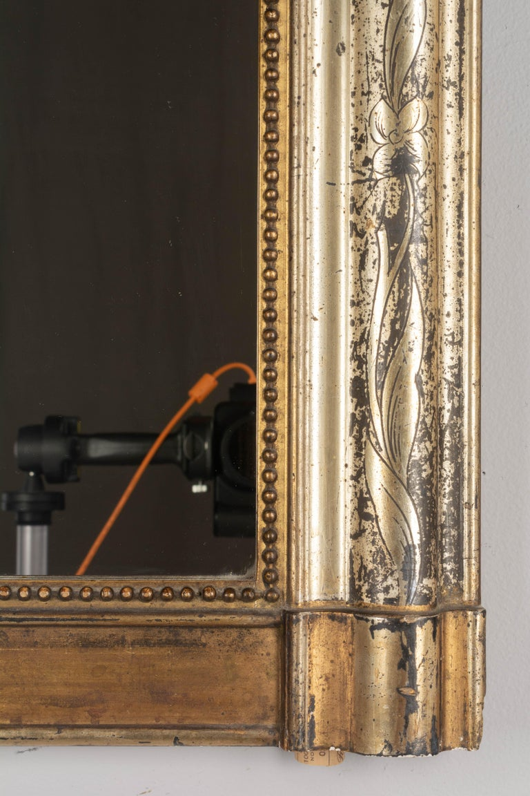 19th Century French Louis Philippe Gilded Mantel Mirror 2