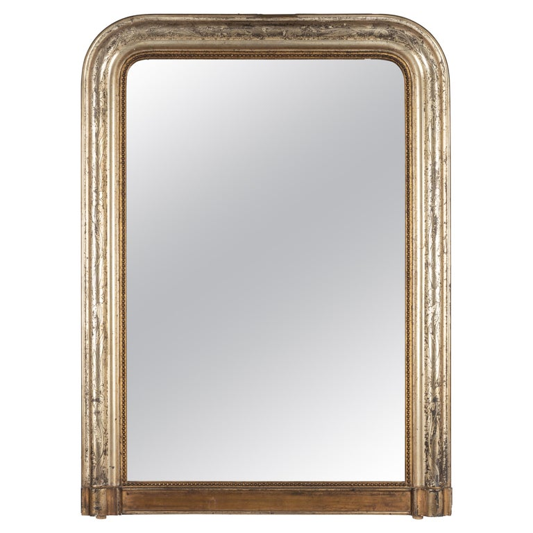 19th Century French Louis Philippe Gilded Mantel Mirror