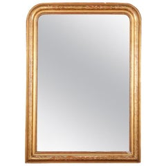 19th Century French Louis Philippe Gilt Framed Mirror