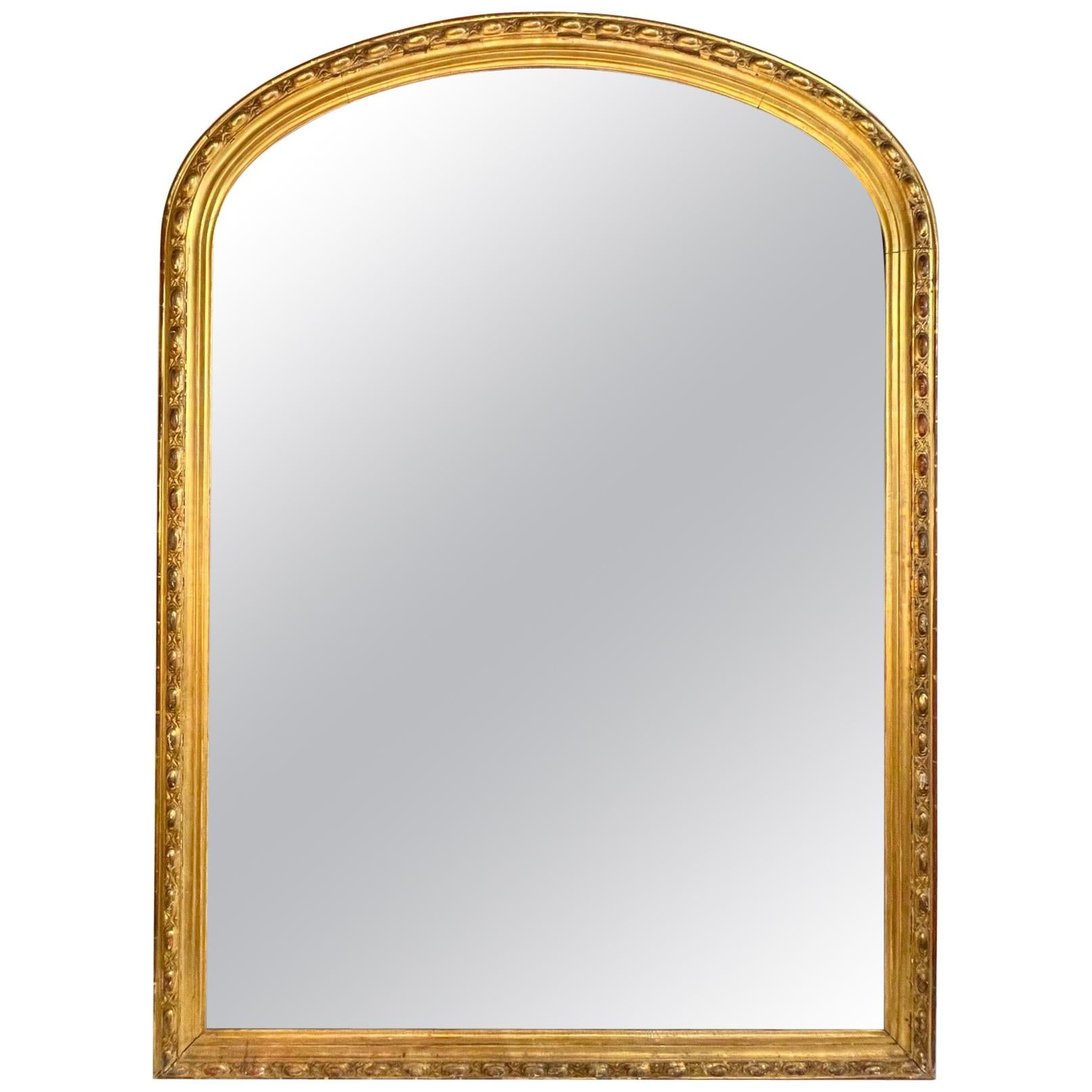 19th Century French Louis Philippe Giltwood Mirror
