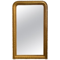 19th Century French Louis Philippe Gold Gilt Mirror