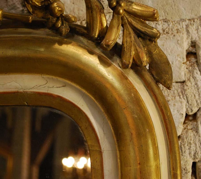 19th Century French Louis Philippe Gold Leaf Gilt Mirror