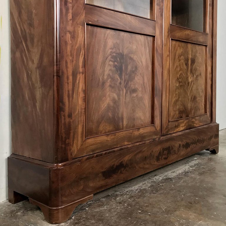 19th Century French Louis Philippe Mahogany Bookcase For Sale 6