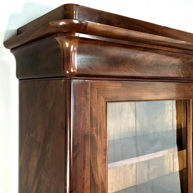 19th Century French Louis Philippe Mahogany Bookcase For Sale 5