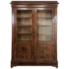 19th Century French Louis Philippe Mahogany Bookcase