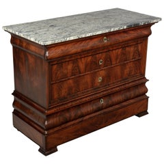 19th Century French Louis Philippe Mahogany Commode or Chest of Drawers