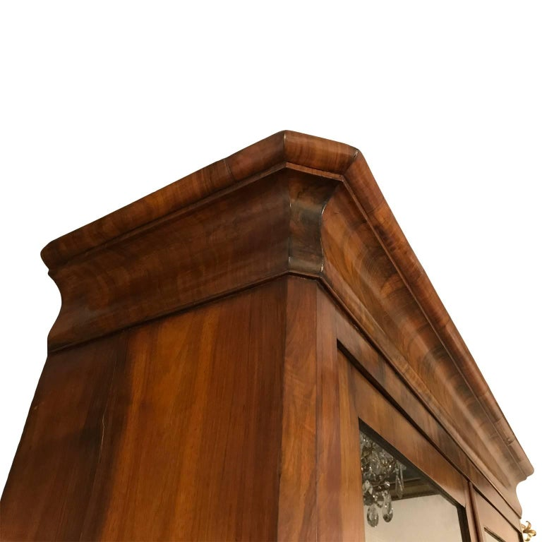 Louis Philippe Open Bookcase: 19th Century Two-door Sideboard French Louis Philippe
