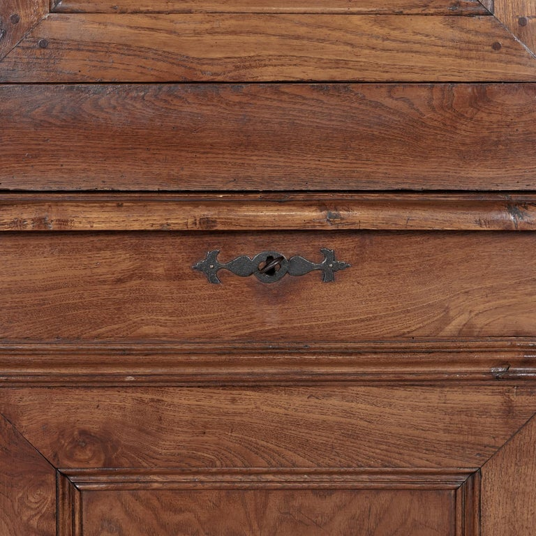 Period French Louis Philippe Chestnut and Burled Chestnut Buffet Deux Corps 8