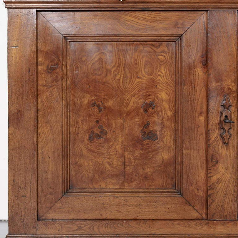 Period French Louis Philippe Chestnut and Burled Chestnut Buffet Deux Corps 9