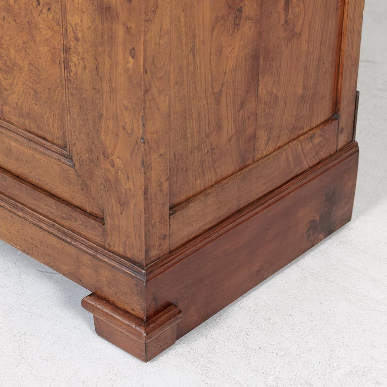 Period French Louis Philippe Chestnut and Burled Chestnut Buffet Deux Corps 11
