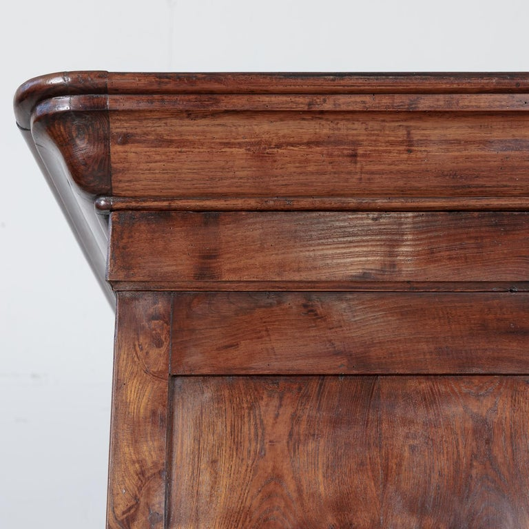 Period French Louis Philippe Chestnut and Burled Chestnut Buffet Deux Corps 13