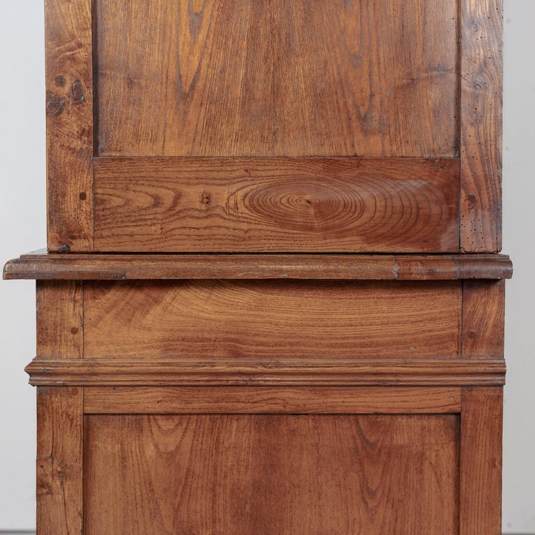 Period French Louis Philippe Chestnut and Burled Chestnut Buffet Deux Corps 14