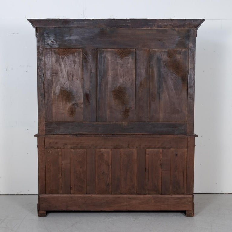 Period French Louis Philippe Chestnut and Burled Chestnut Buffet Deux Corps 16