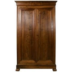 19th Century French Louis Philippe Period Walnut Armoire